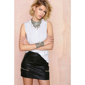 NASTY GAL Skin of Your Teeth Faux Leather Skirt